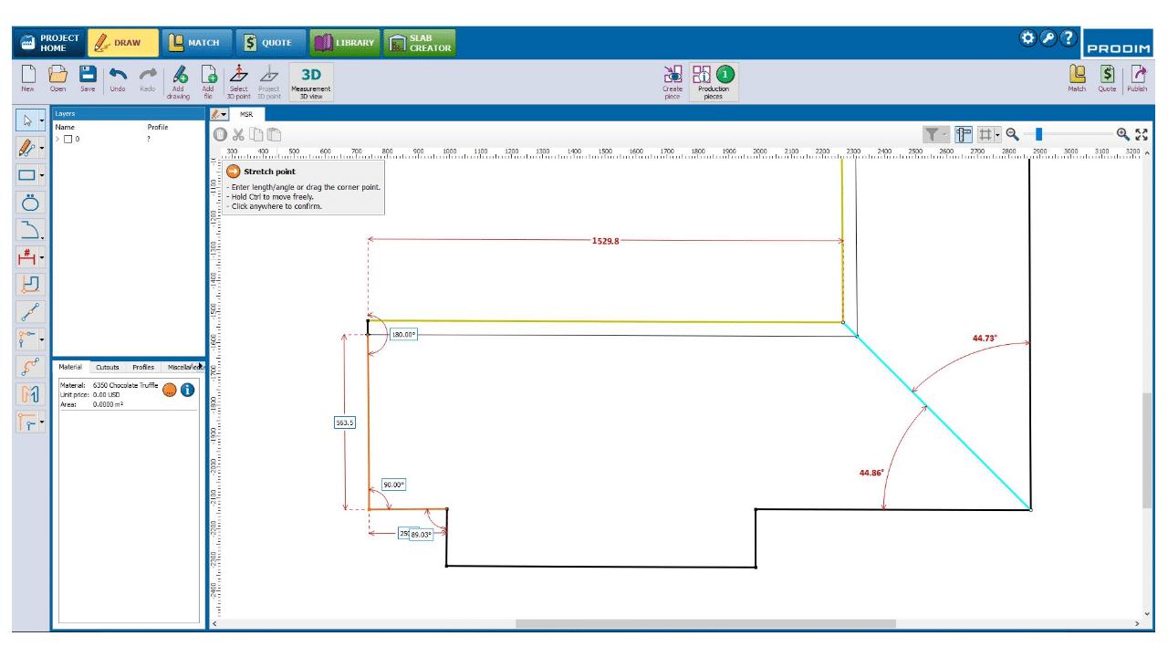 Schermafbeelding - Prodim Factory software - Draw