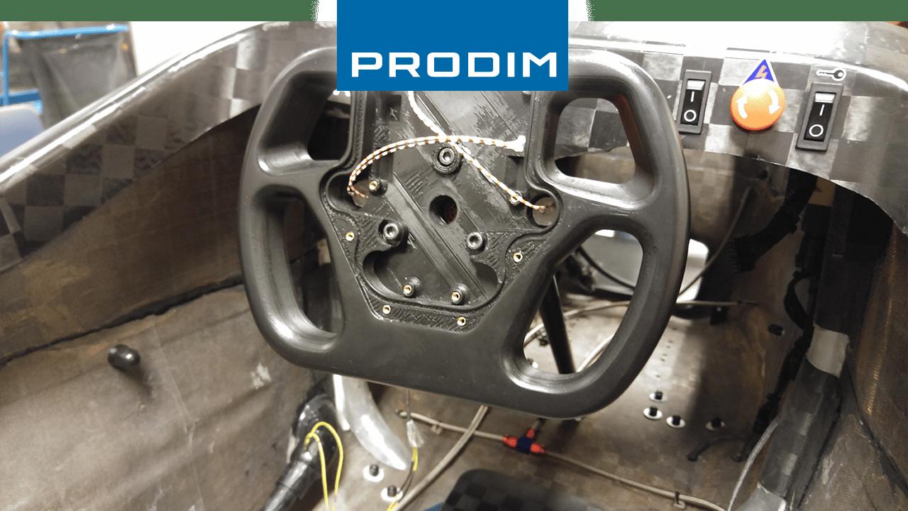 Prodim heeft het wiel voor de URE race auto geprint met de 3D printer