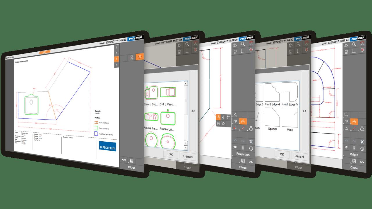 Schermafbeelding - Prodim Proliner Stone CT software