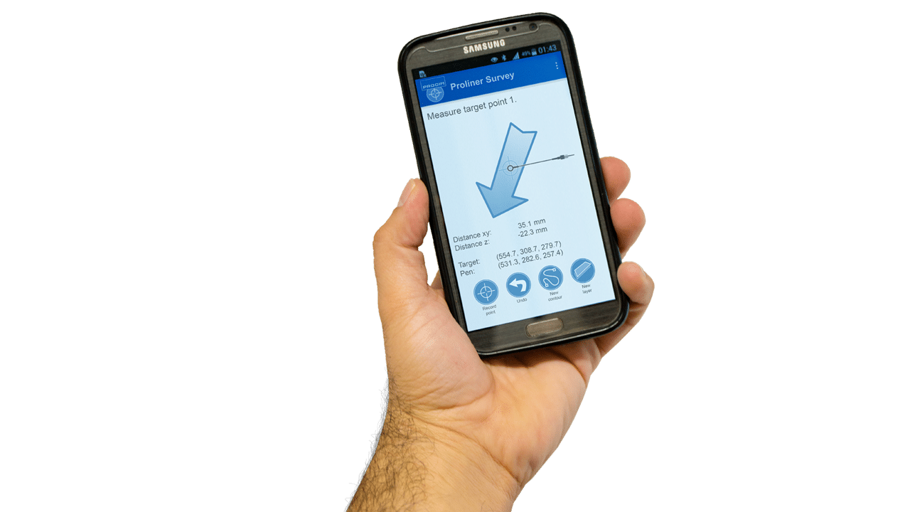 Prodim Proliner Survey software – Smartphone app