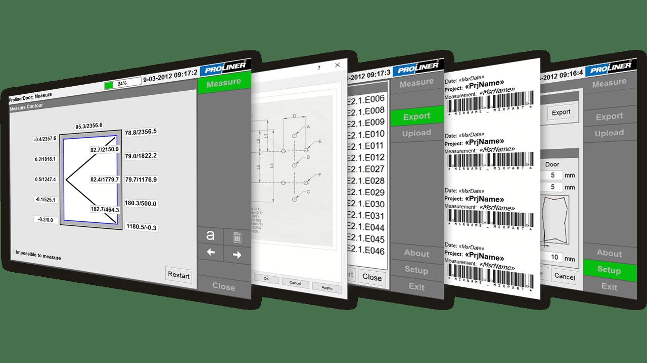 Schermafbeeldingen – Prodim Factory Door software – Proliner software voor deuren