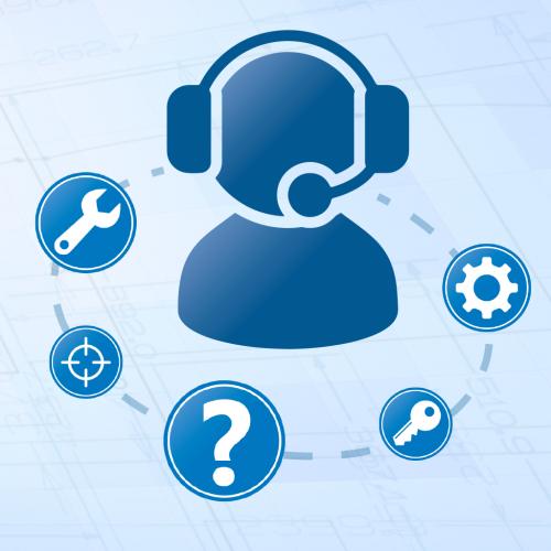 Knop – Ga naar deze webpagina om contact op te nemen met de Prodim helpdesk
