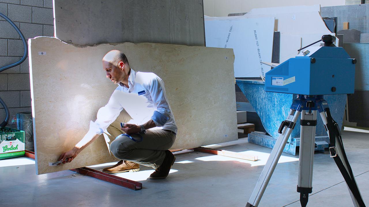 Prodim – Oplossingen voor de steenindustrie – Digitaliseren van slabs