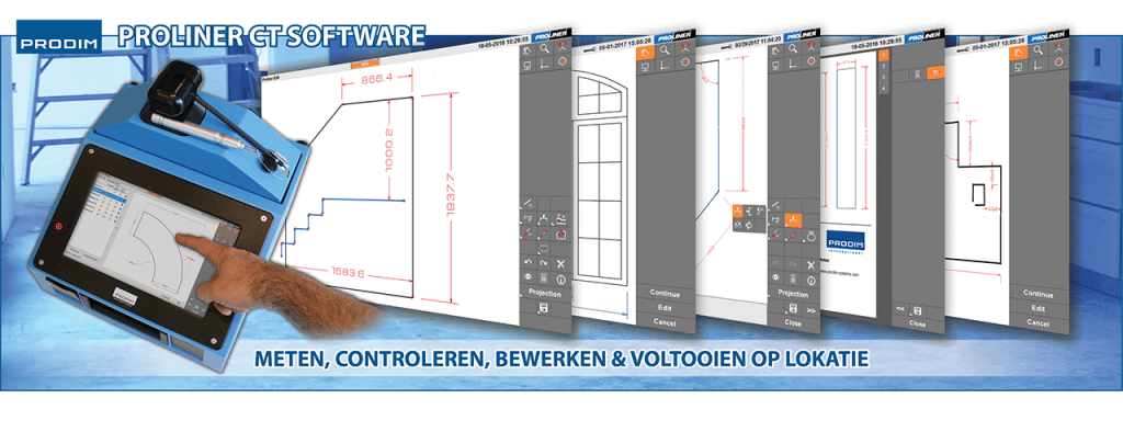 Slider - Prodim Proliner - CT Software voor glas