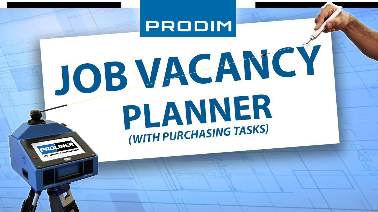 Prodim job vacancy - Planner with purchasing tasks