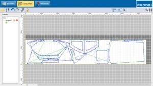Screenshot van Prodim Plotter Host software - Speciaal ontwikkelde software voor het bedienen van de Prodim Plotter en het nesten van ontwerpen.