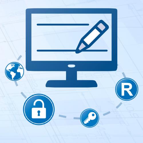 Knop – Bezoek deze webpagina voor het registreren van uw product