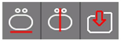 Pictogrammen van de nieuwe bewerkingsfuncties van Proliner-software generatie 4X